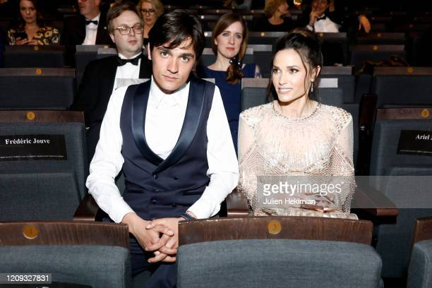 AlainFabien Delon and Capucine Anav attend the Cesar Film Awards 2020 Ceremony At Salle Pleyel In Paris on February 28 2020 in Paris France