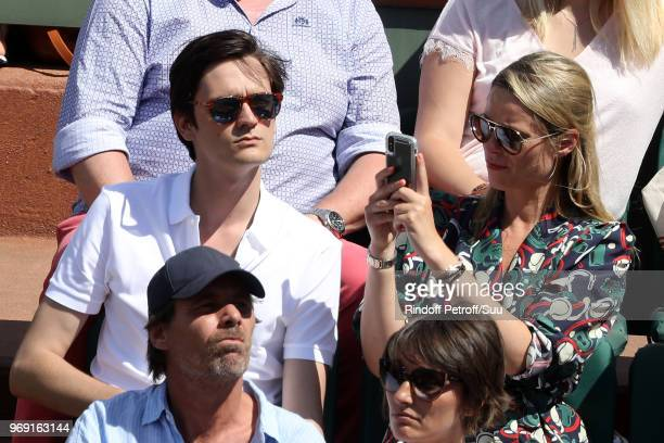 AlainFabien Delon and Kiera Chaplin attend the 2018 French Open Day Twelve at Roland Garros on June 7 2018 in Paris France