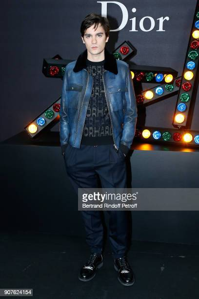AlainFabien Delon attends the Dior Homme Menswear Fall/Winter 20182019 show as part of Paris Fashion Week on January 20 2018 in Paris France