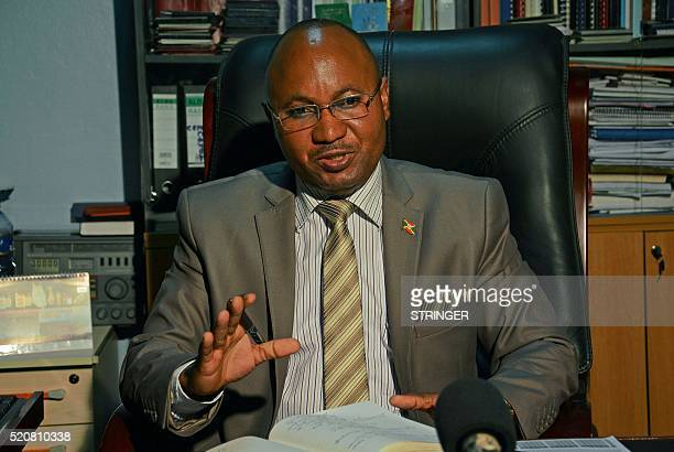 AlainGuillaume Bunyoni Burundian Minister of Security speaks as he sits at his desk in Bujumbura on April 12 2016 A year after Burundi was plunged...