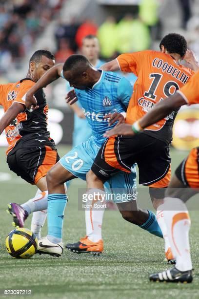 Alaixys ROMAO / Andre AYEW Lorient / Marseille 36eme journee de Ligue 1