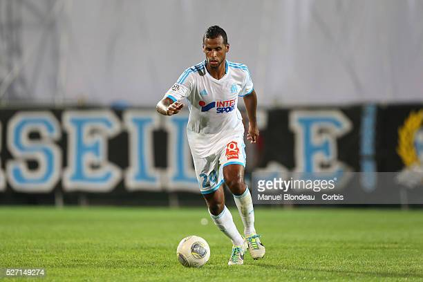 Alaixys Romao of Marseille during the French Ligue 1 Championship football match between Olympique de Marseille and AS Monaco at Stade Velodrome in...