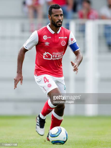 Alaixys Romao of Reims during the match between Lille v Reims at the Stade Paul Debresie on July 13 2019 in SaintQuentin France