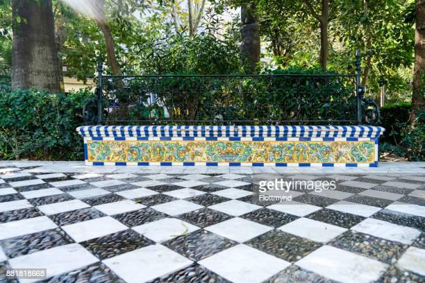 Alameda Apodaca, a garden in the city of Cádiz, Spain
