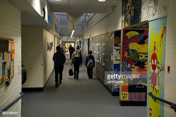 Alameda high school principal Susie Van Scoyk gives tour of the old section of the school November 17 2016 The states second largest district wanted...