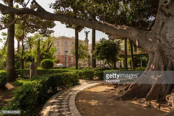 Alameda Marqués de Comillas Garden is a beautiful park in Cadiz, Spain