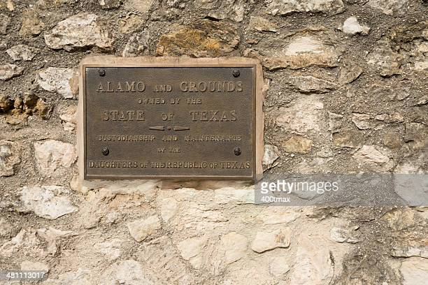 alamo plaque - alamo stock pictures, royalty-free photos & images