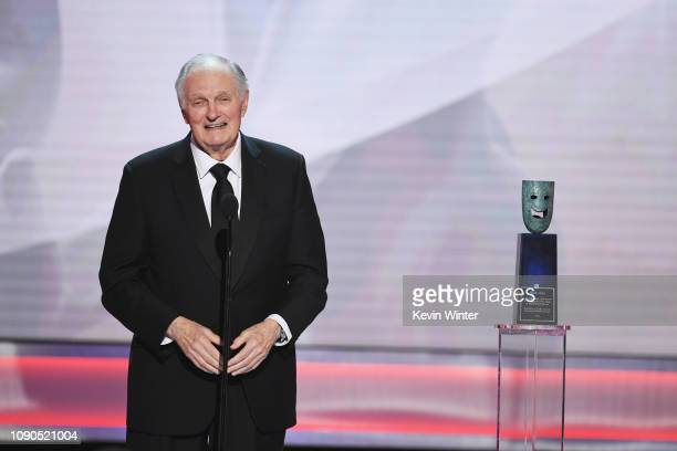 Alan Alda accepts the Life Achievement Award onstage during the 25th Annual Screen Actors Guild Awards at The Shrine Auditorium on January 27 2019 in...