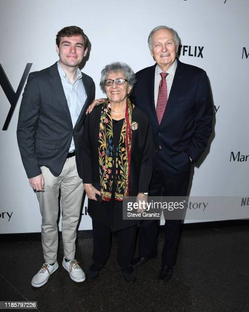 Alan Alda and Arlene Alda arrives at the Premiere Of Netflix's Marriage Story at DGA Theater on November 05 2019 in Los Angeles California