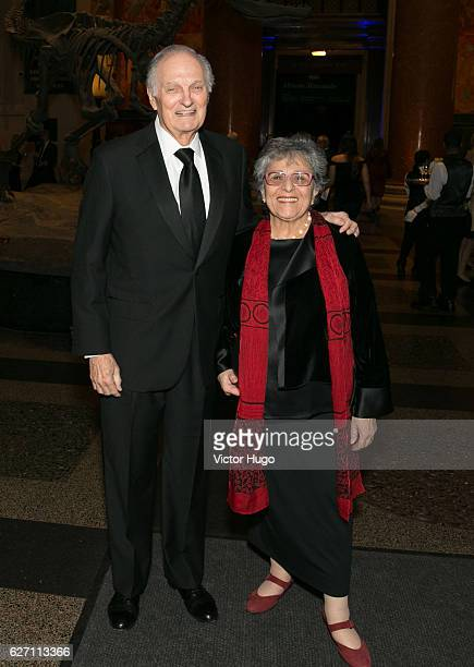 Alan Alda and Arlene Alda attend old Spring Harbor Laboratory's Double Helix Medals at American Museum of Natural History on December 1 2016 in New...
