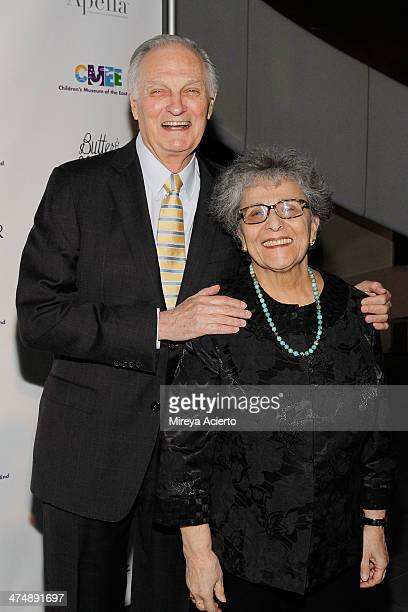 Alan Alda and Arlene Alda attend the 2014 CMEE In The City fundraiser at Riverpark on February 25 2014 in New York City