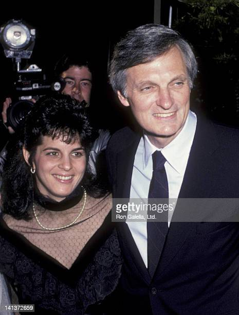 Alan Alda and daughter Elizabeth Alda attend the premiere of Sweet Liberty on April 22 1986 at the Academy Theater in Beverly Hills California