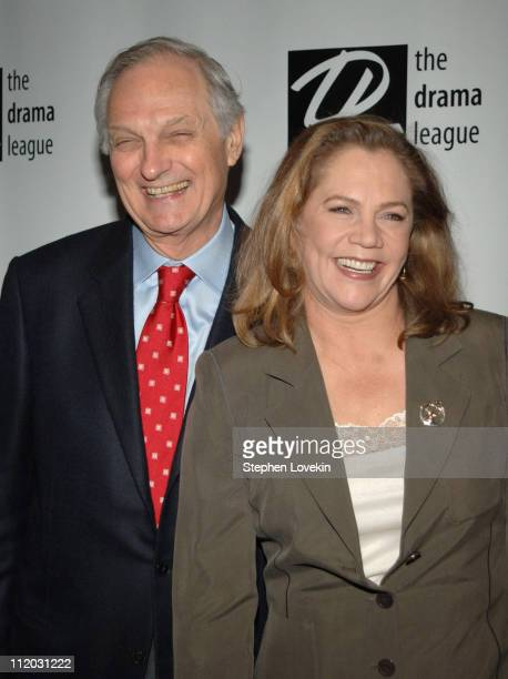 Alan Alda and Kathleen Turner during 71st Annual Drama League Awards at Marriott Marquis Hotel in New York City, New York, United States.