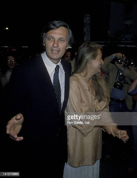 Alan Alda and Meryl Streep attend 19th Birthday Party for Elizabeth Alda on August 15 1979 at the Promenade Cafe in New York City