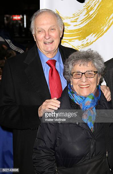 Alan Alda and wife Arlene Alda attend the Broadway Opening Night Performance of 'Fiddler On The Roof' at the Broadway Theatre on December 20 2015 in...