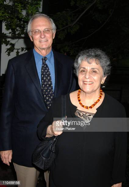 Alan Alda and wife Arlene during The Public Theatres Summer Gala Honoring Meryl Streep and Kevin Kline and Opening Night of MacBeth at Central Park...