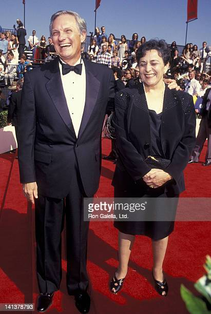 Alan Alda and wife Arlene Weiss attend 46th Annual Primetime Emmy Awards on September 11 1994 at the Pasadena Civic Auditorium in Pasadena California