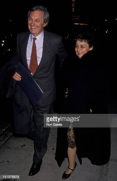Alan Alda and wife Arlene Weiss attend New York Film Critics Circle Awards on January 14 1990 at Sardi's Restaurant in New York City