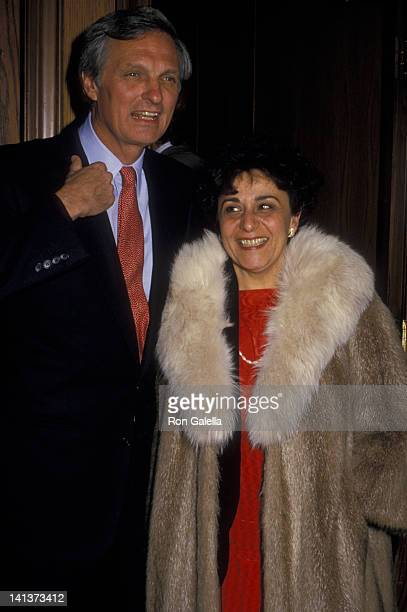 Alan Alda and wife Arlene Weiss attend the premiere of A New Life on March 21 1988 at the Paramount Theater in New York City