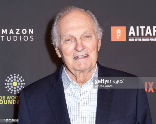 Alan Alda attends Arts in the Armed Forces 11th Annual Broadway Event for the staged reading of A Raisin in the Sun at American Airlines Theatre on...