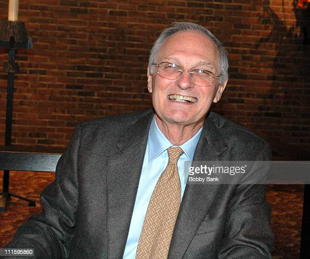 Alan Alda during Alan Alda Signs His Book Never Have Your Dog Stuffed at Advent Lutheran Church in Wyckoff New Jersey United States