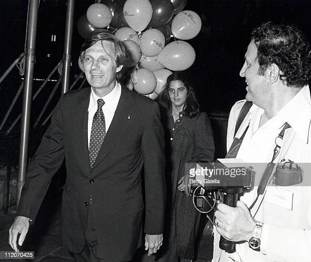 Alan Alda Elizabeth Alda and Ron Galella during The Seduction of Joe Tynan New York City Premiere Party at Promenade Cafe Rockefeller Plaza in New...