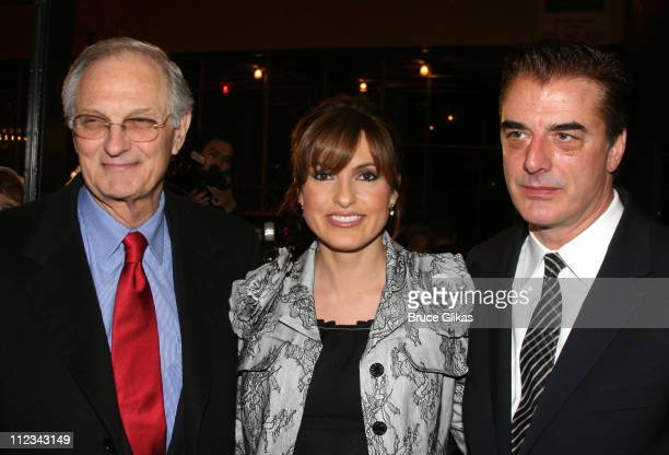 Alan Alda Mariska Hargitay and Chris Noth during Talk Radio Broadway Opening Night at The Longacre Theatre and Bar Americain in New York City New...