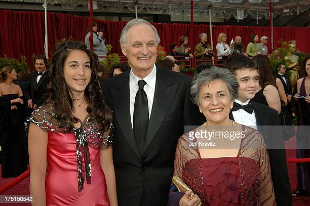 Alan Alda nominee Best Actor in a Supporting Role for The Aviator wife Arlene Alda and family