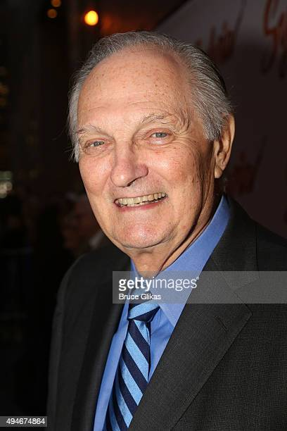 Alan Alda poses at The Opening Night Arrivals for Sylvia on Broadway at The Cort Theatre on October 27 2015 in New York City