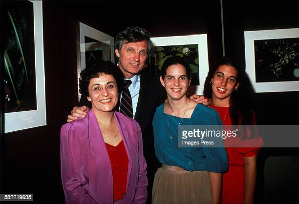 Alan Alda wife Arlene and daughters circa 1981 in New York City