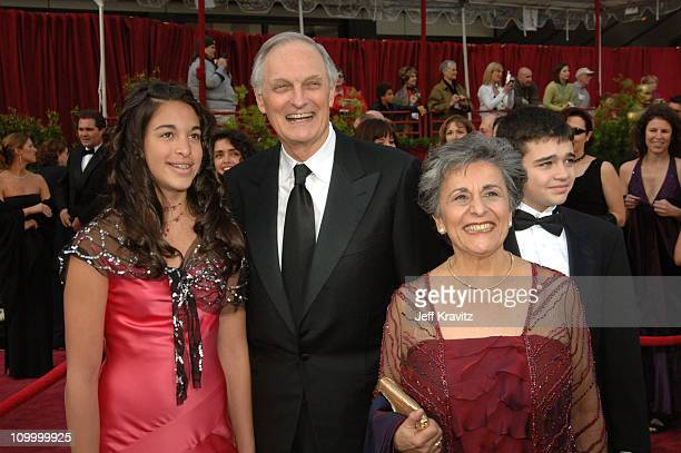 Alan Alda wife Arlene Weiss and family during The 77th Annual Academy Awards Arrivals at Kodak Theatre in Los Angeles California United States