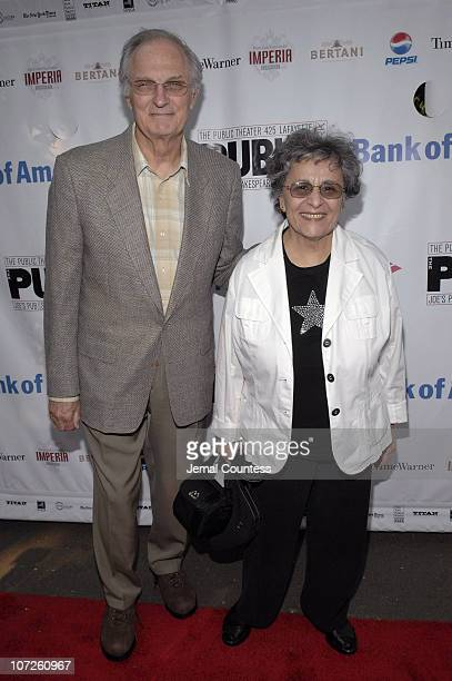 Alan Alda with Arlene Alda during Opening Night of Shakespeare in the Park 2007 Production of Romeo and Juliet Gala and Play Arrivals June 19 2007 at...