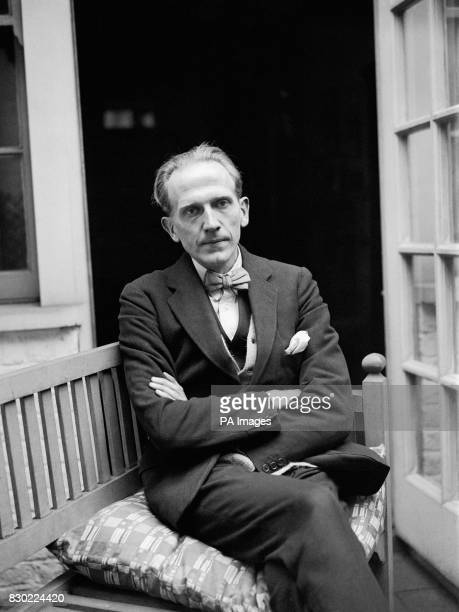Alan Alexander Milne Author and Dramatist at home in his artistic house at Chelsea in London