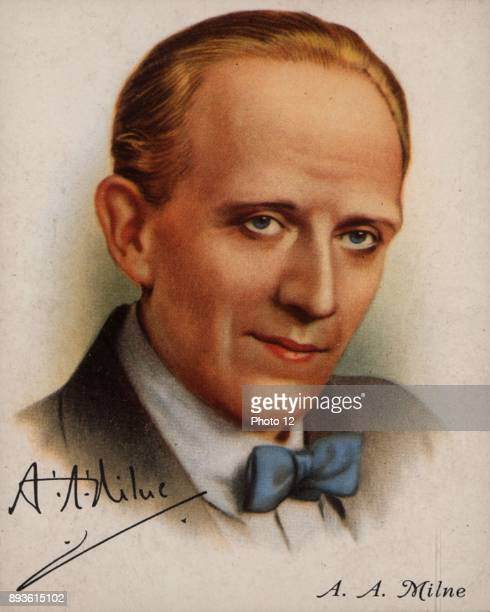 Alan Alexander Milne English author best known for his creation of 'WinniethePooh' From a series of cards of 'Famous British Authors'