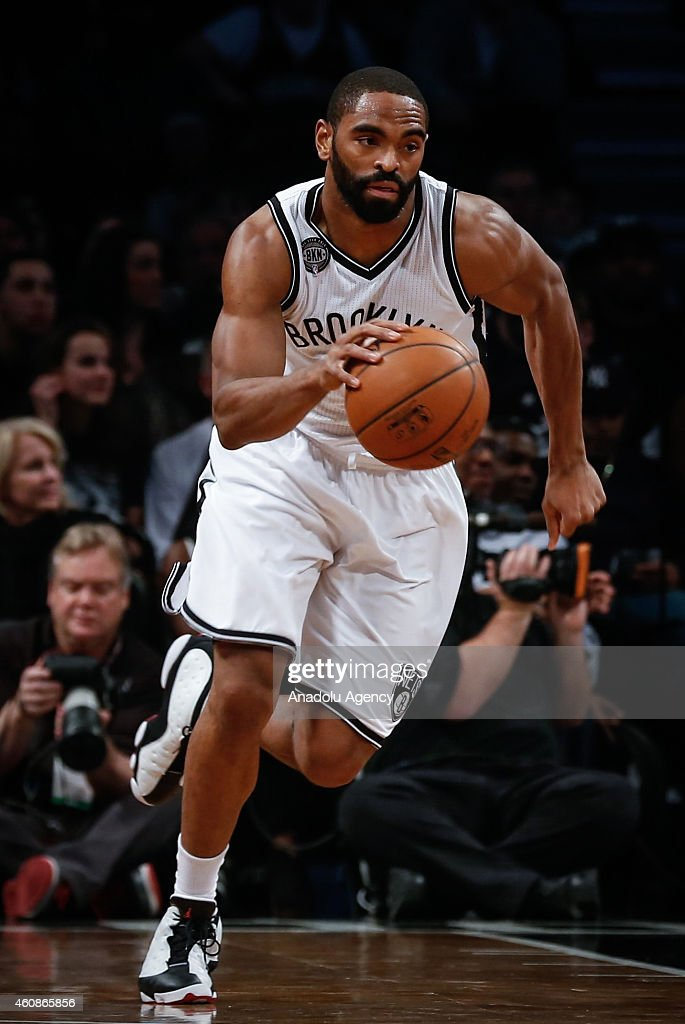 Alan Anderson of Brooklyn Nets drives the ball against Indiana Pacers during an NBA game on December 27, 2014 at Barclays Center in Brooklyn, New York.