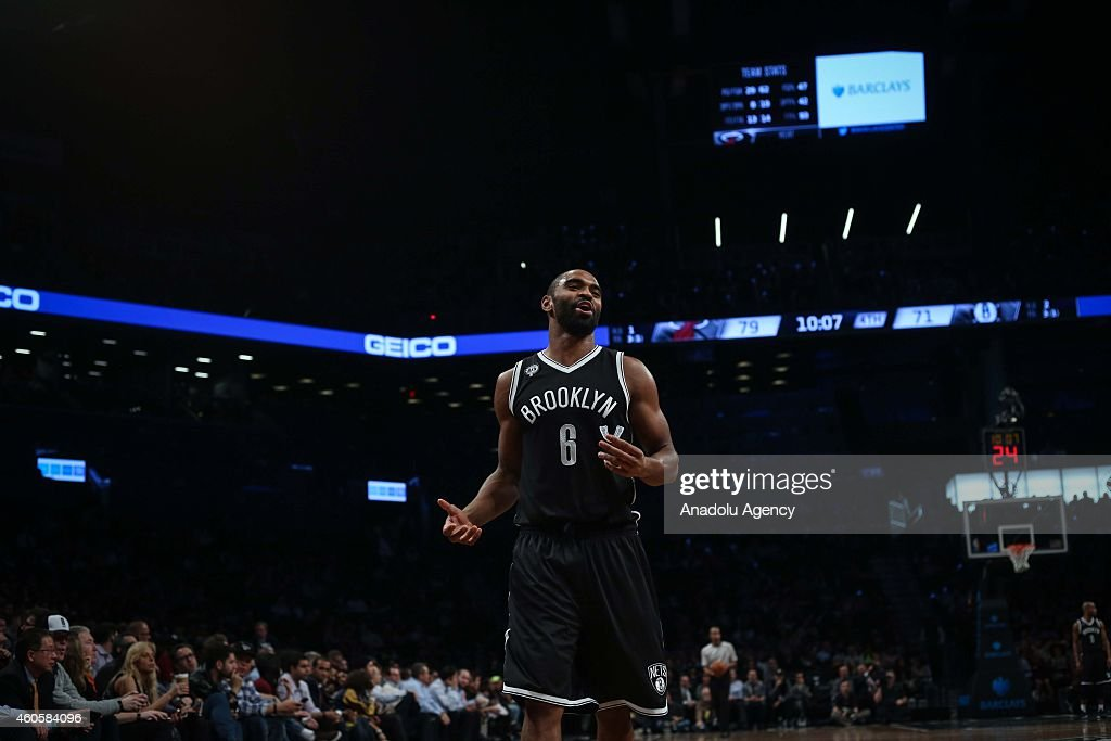 Alan Anderson #6 of Brooklyn Nets during a basketball game between Miami Heat and Brooklyn Nets at the Barclays Center on December 16, 2014 in the Brooklyn Borough of New York City.