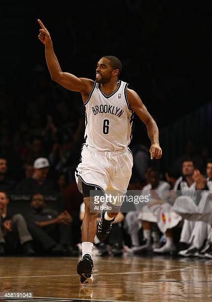 Alan Anderson of the Brooklyn Nets in action against the Philadelphia 76ers during their game at the Barclays Center on December 16 2013 in the...