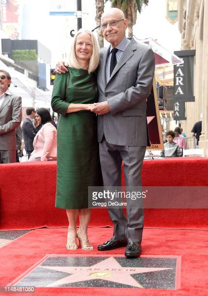 Alan Arkin and wife Suzanne Newlander Arkin pose as Alan is honored with a Star On The Hollywood Walk Of Fame on June 7, 2019 in Hollywood,...