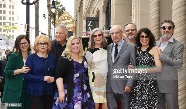 Alan Arkin with cast of the The Kominsky Method attend the ceremony honoring Alan Arkin with a Star on The Hollywood Walk of Fame held on June 07...
