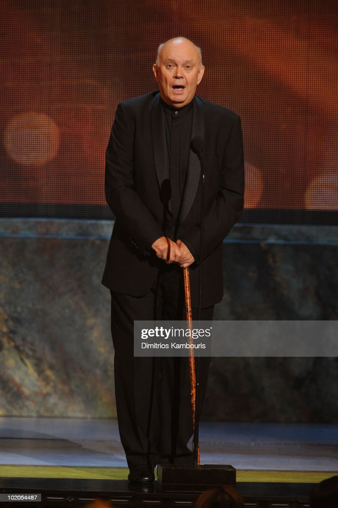 Alan Ayckbourn speaks onstage during the 64th Annual Tony Awards at Radio City Music Hall on June 13, 2010 in New York City.