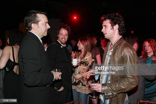 Alan Ball and Jeremy Sisto during LA Premiere of HBO's series 'Six Feet Under' After Party at The Highlands in Hollywood CA United States