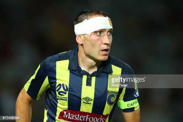 Alan Baro of the Mariners during the round six ALeague match between the Central Coast Mariners and Sydney FC at Central Coast Stadium on November 10...