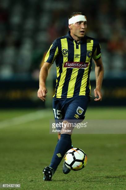 Alan Baro of the Mariners in action during the round six ALeague match between the Central Coast Mariners and Sydney FC at Central Coast Stadium on...