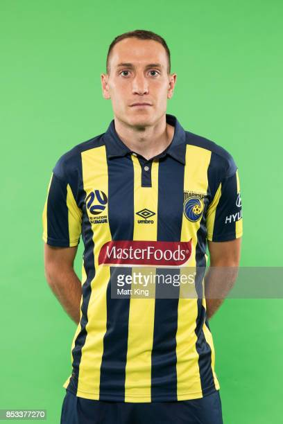 Alan Baro poses during the Central Coast Mariners 2017/18 ALeague headshots session at Fox Sports Studios on September 25 2017 in Sydney Australia