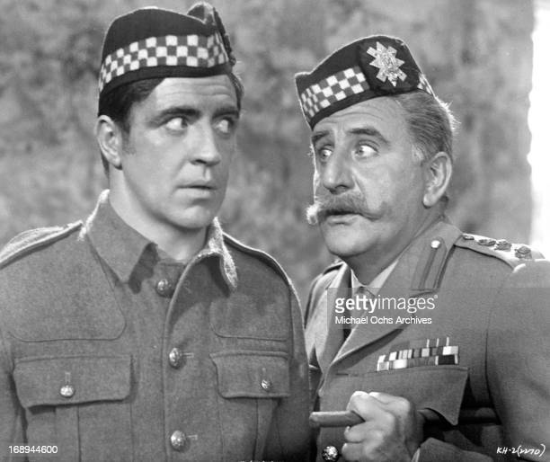 Alan Bates and Adolfo Celi in a scene from the film 'King Of Hearts' 1966