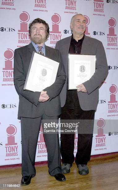 Alan Bates and Frank Langella during 56th Annual Tony Awards Nominees Brunch at Marriott Marquis in New York City New York United States