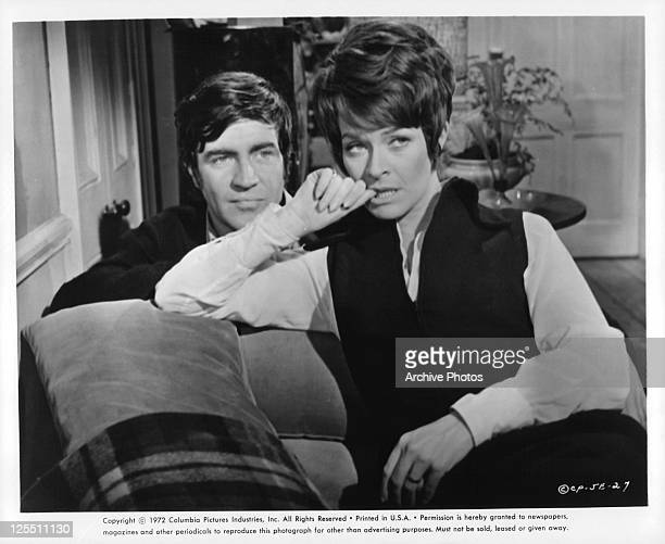 Alan Bates And Janet Suzman sit in a scene from the film 'Day In The Death Of Joe Egg' 1972