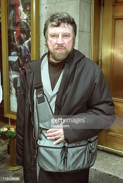 Alan Bates during Celebrities exit the Music Box Theater March 9 2002 at Music Box Theater in New York City New Jersey