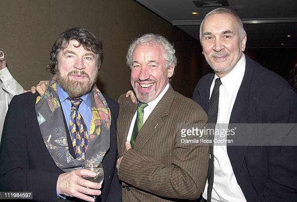 Alan Bates Simon Callow and Frank Langella during New Dramatists 53rd Annual Benefit Luncheon Honors Barbara Cook at Marriott Marquis Hotel in New...