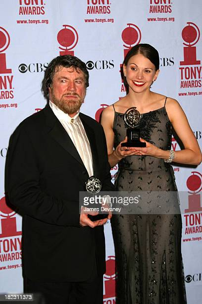 Alan Bates Sutton Foster during 56th Annual Tony Awards Press Room at American Theater at Radio City Music Hall in New York City New York United...